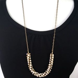 J. Crew Rhinestone Crystal Statement Necklace